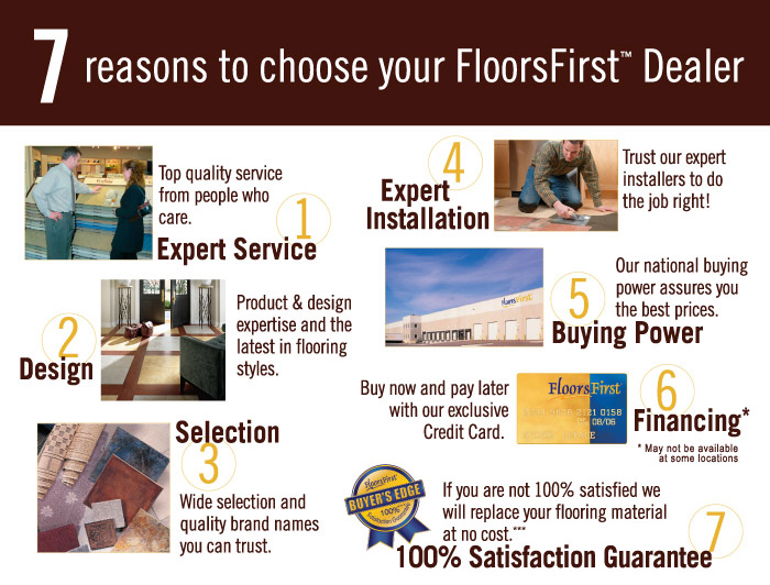 7 reasons to choose a floorsfirst dealer